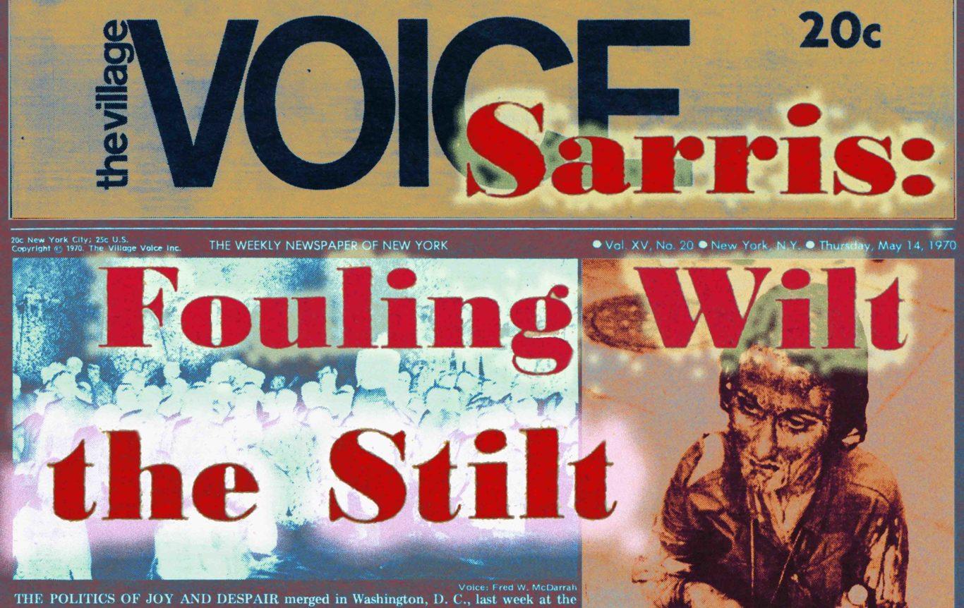 1970 Village Voice Andrew Sarris article on Wilt the Stilt Chamberlain