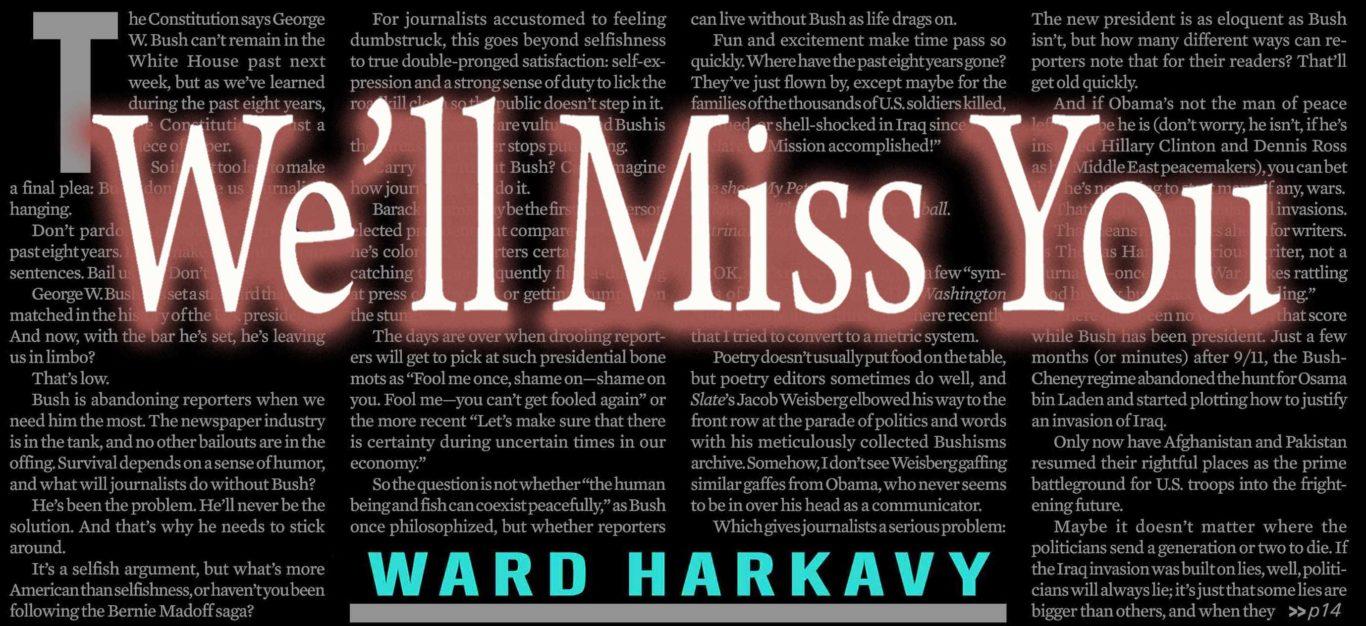obituary for Ward Harkavy