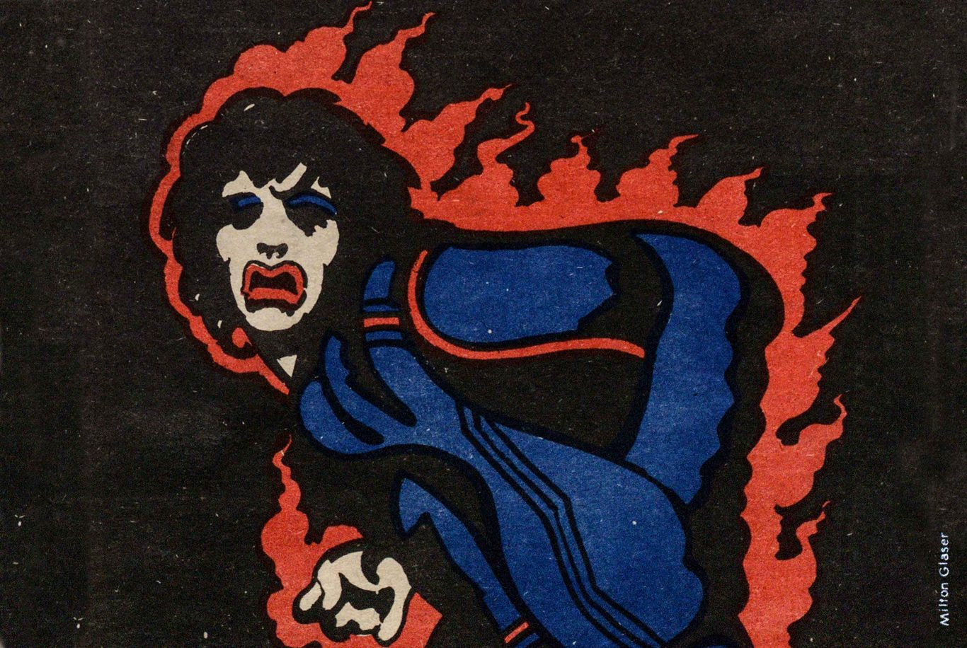 Milton Glaser illustration of Mick Jagger for the cover of the village voice