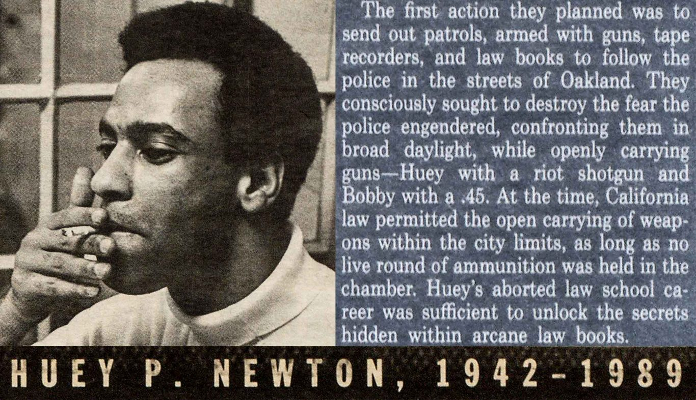 1989 Village Voice obituary - remembrance of Huey Newton by Kathleen Cleaver